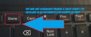 Come fare screenshot dello schermo pc - tasto stamp