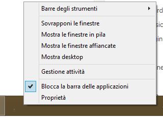 barra applicazioni