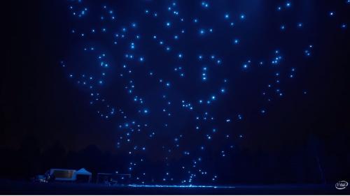 ST. Moritz show dei droni luminosi di un Team svizzero